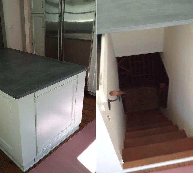 The Ol' Kitchen Island Hidden Wine Cellar Stairs in