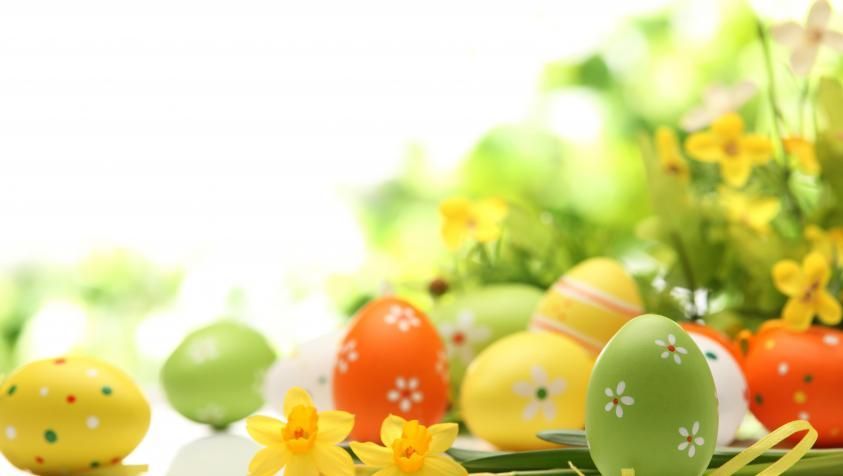 Happy And Blessed Easter Wallpaper Hd Wallpaper Easter Wallpaper Easter Egg Decorating Coloring Easter Eggs
