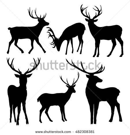 Deer Silhouette Vector Illustration Deer Silhouette Silhouette Vector Moose Art