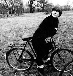 John Lennon on a #bicycle