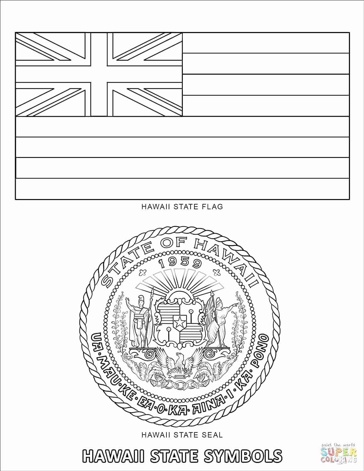 Hawaiian Printables For Kids United States State Emblems