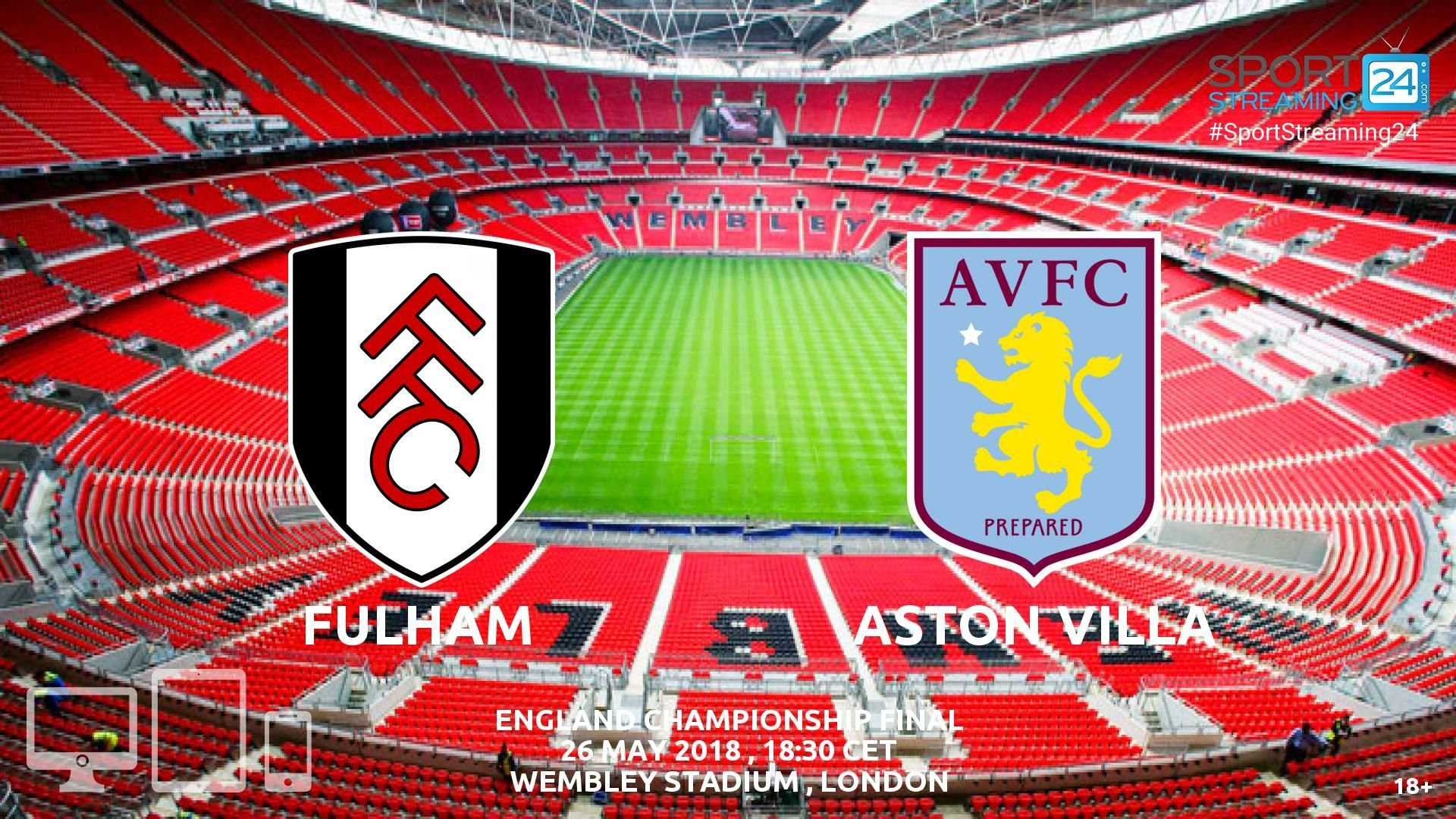 Aston Villa v Fulham Live Streaming Football Aston villa