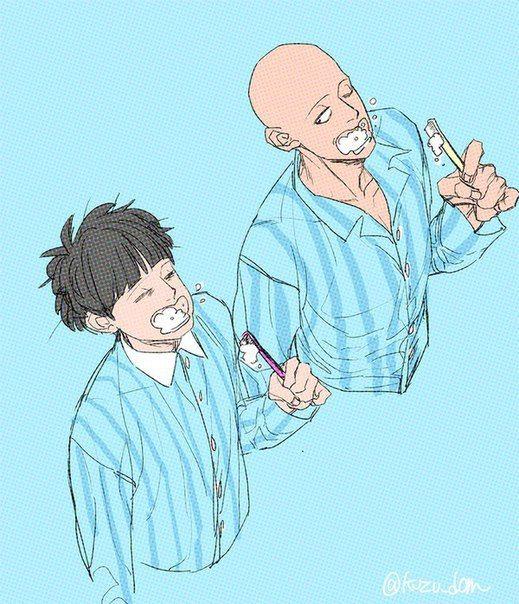 Shigeo (Mob 100 Psycho) and Saitama (One Punch Man)