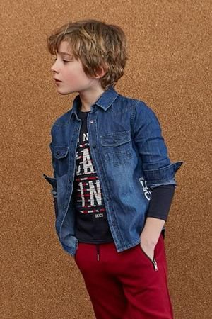 IKKS Denim Boys Shirt (Size 4 left)