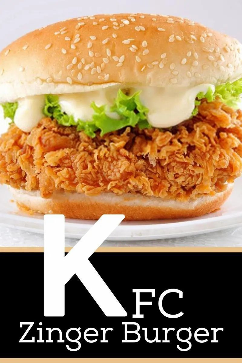 Kfc Zinger Burger Recipe Recipe Chicken Burgers Recipe Recipes Burger Recipes