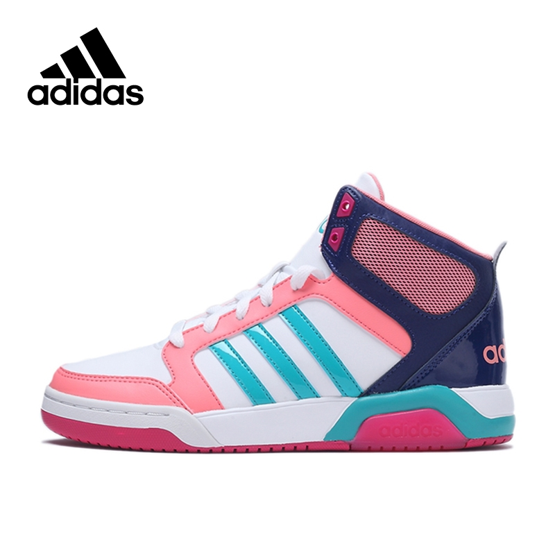 aaca8d2b4e9a5 117.8  Buy here - Official New Arrival Adidas NEO Label Women s High Top  Skateboarding Shoes