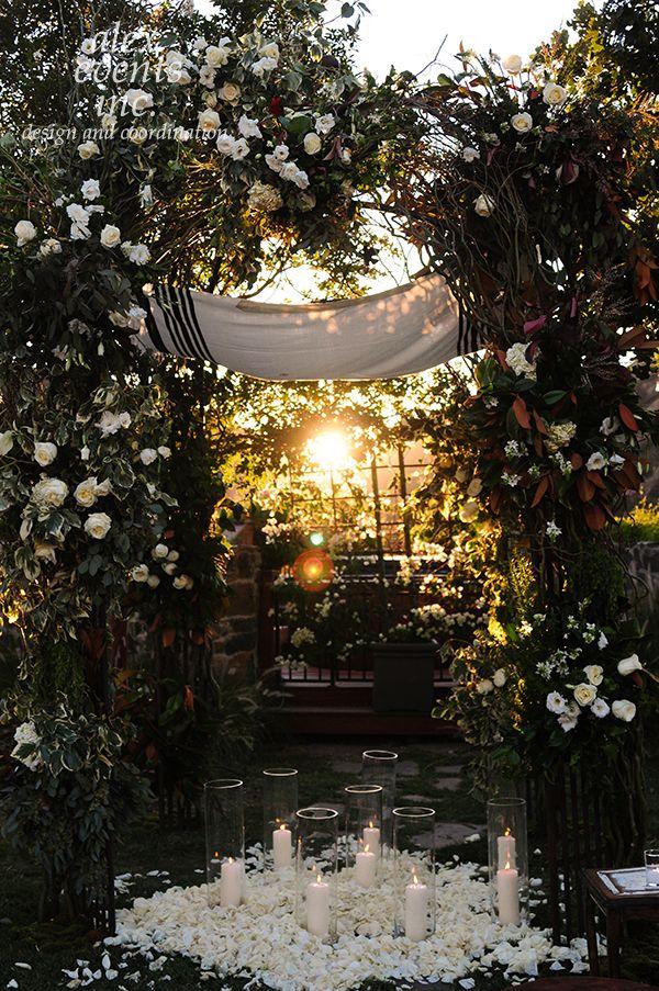 Beautiful Garden Wedding Ideas: Beautiful Outdoor Wedding Reception #roses #candles