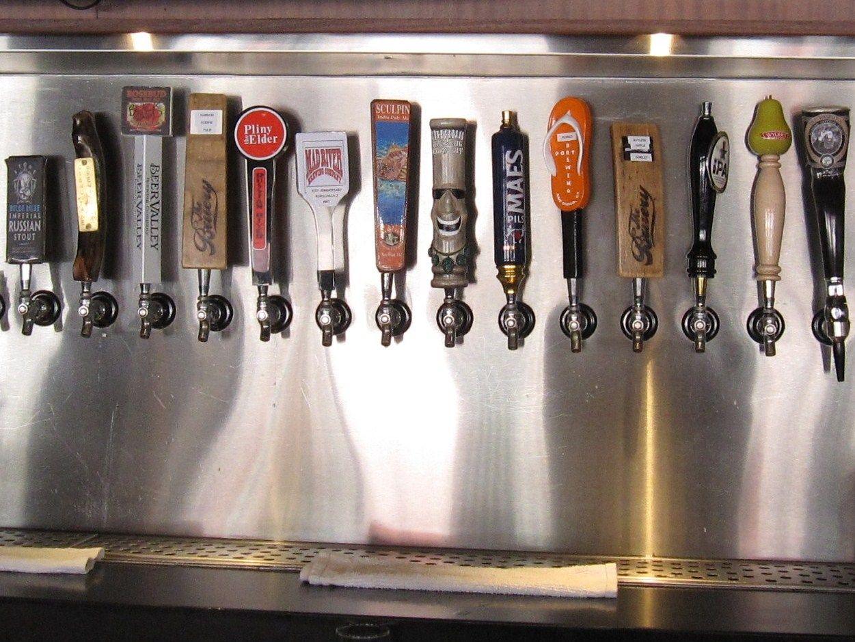 Wall Mounted Beer Taps Tap Handle Display 2 Jpg 1251 215 939