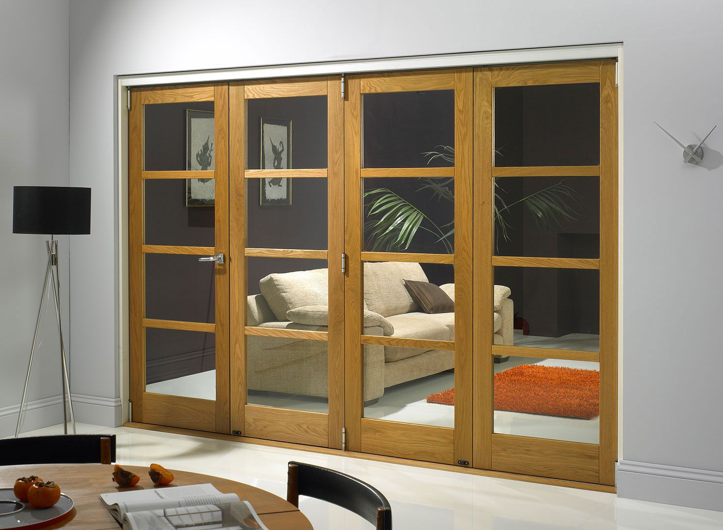Made to measure internal folding doors - Vufold Inspire Is A Unique Internal Room Divider Door With Fold Back Technology Giving Flexibilty Of Opening Options