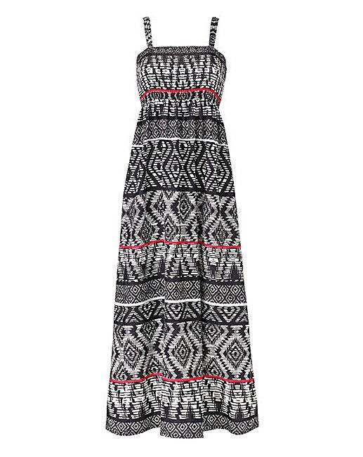 Tribal Print Shirred Maxi Dress | Simply Be | Clothes | Pinterest ...