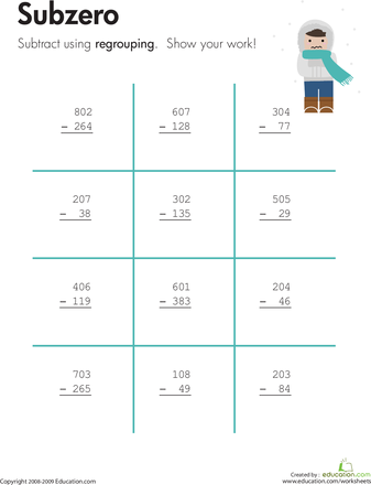 Excellent worksheets. Place value using base ten blocks and many ...