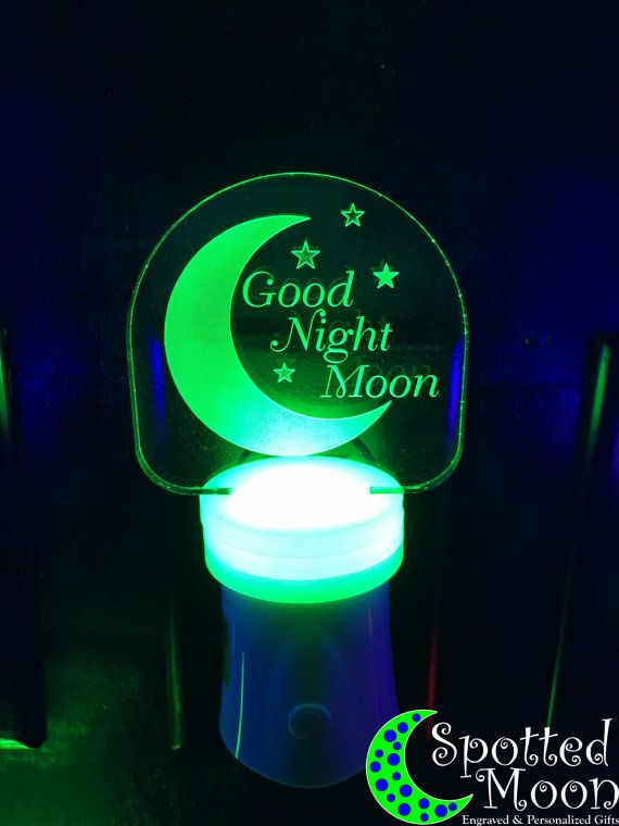 Marvelous Good Night Moon LED Night Light Multi Color By SpottedMoonGifts Amazing Pictures