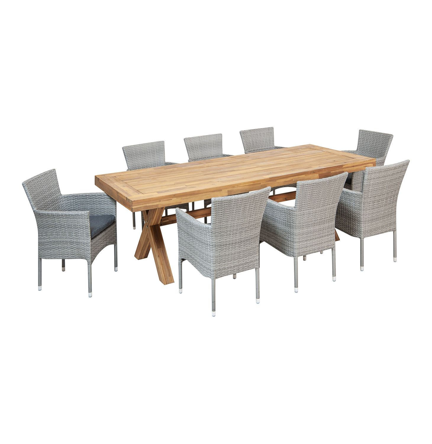 Terrace Leisure 9 Pce Sahara Dining Set Lowest Prices Specials Online Makro