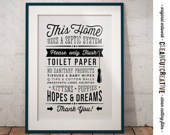 Bathroom Signs Pdf bathroom sign septic system - do not flush toilet sign - pdf jpg