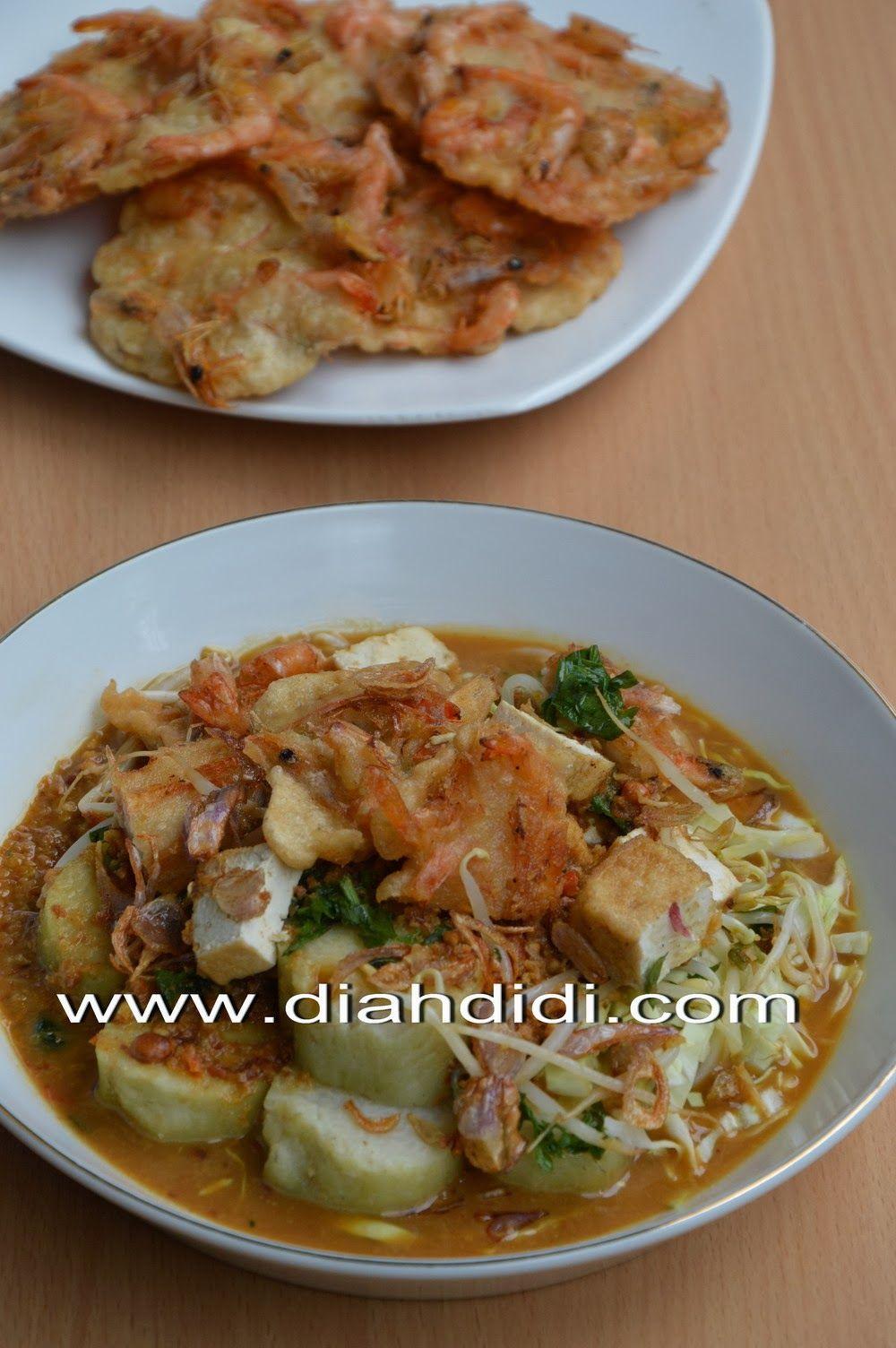 Diah Didi S Kitchen Lontong Tahu Gimbal Udang Resep Masakan Makan Malam Makanan Dan Minuman