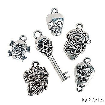 Day of the Dead charms  Oriental Trading