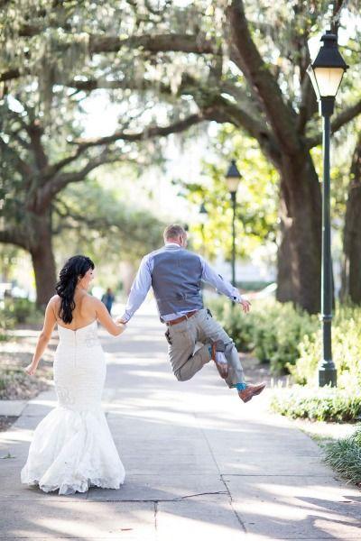 Fun-filled Savannah elopement! http://www.stylemepretty.com/georgia-weddings/savannah/2014/06/09/fun-filled-savannah-elopement/   Photography: http://jadeandmatthew.com/#/special/splash/wedding-photographer/