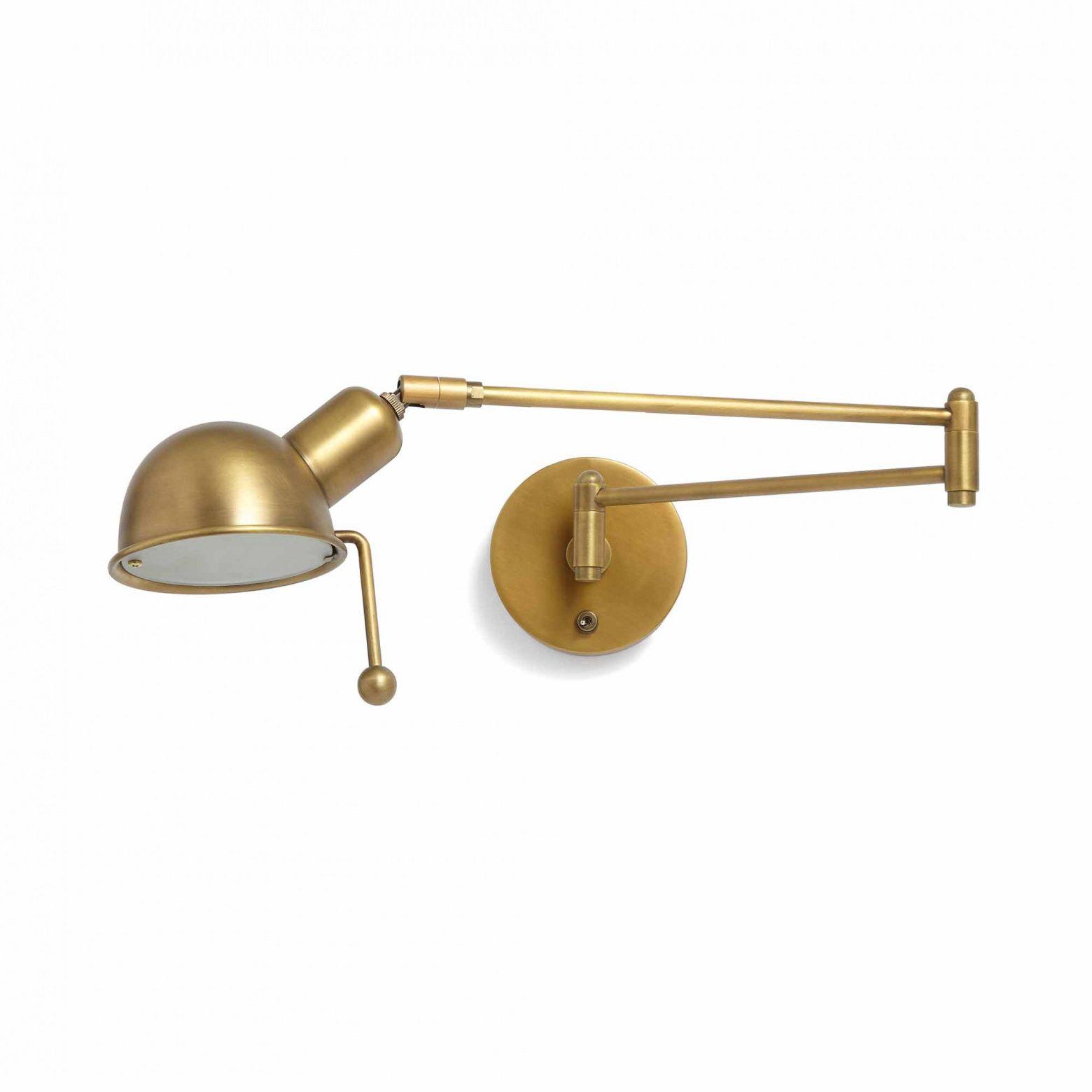 Reade Wall Light Brushed Brass Wall Lights Brass Wall Light Bedside Lighting