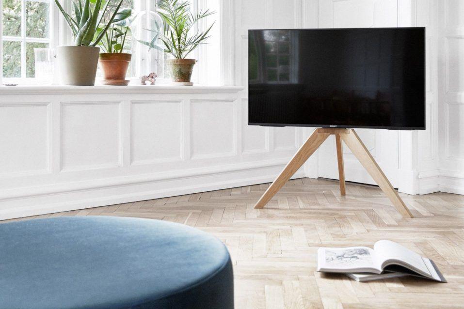 Magnifique Pied De Sol Tv En Bois Design Scandinave Coudert Pied Support Tv Bois Design