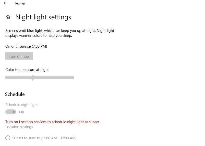 Windows 10 Night Light Not Working After Update Here How To Fix