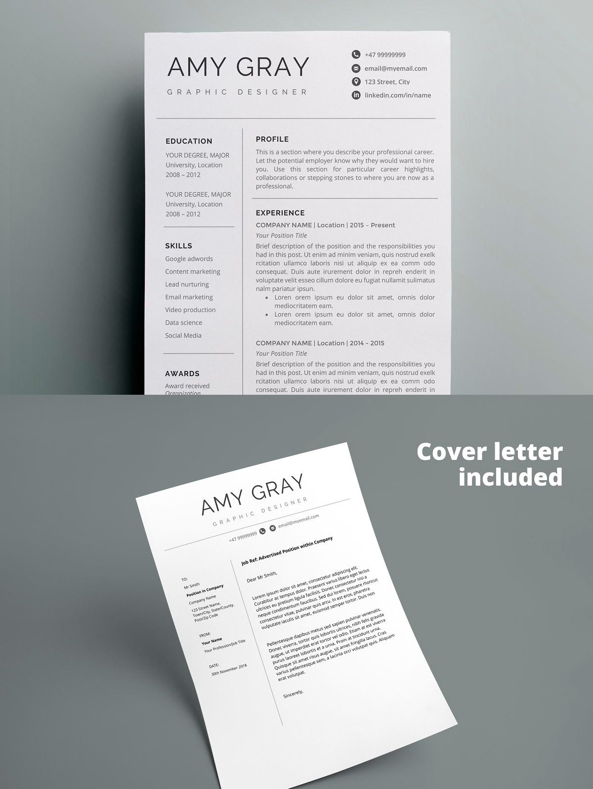 components of a strong resume