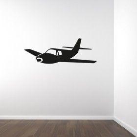 Muursticker vliegtuig | variant 2
