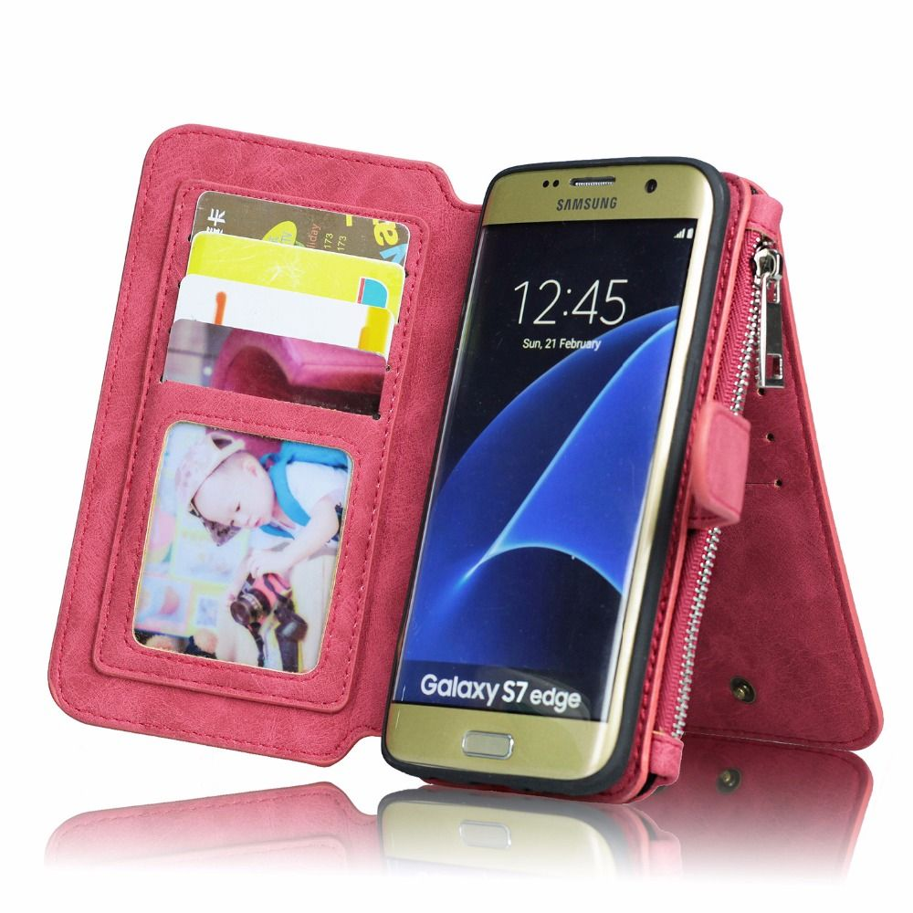 outlet store 2cb4d cf6e8 For Samsung Galaxy S8 Case Retro Multi-function Flip Leather Phone ...