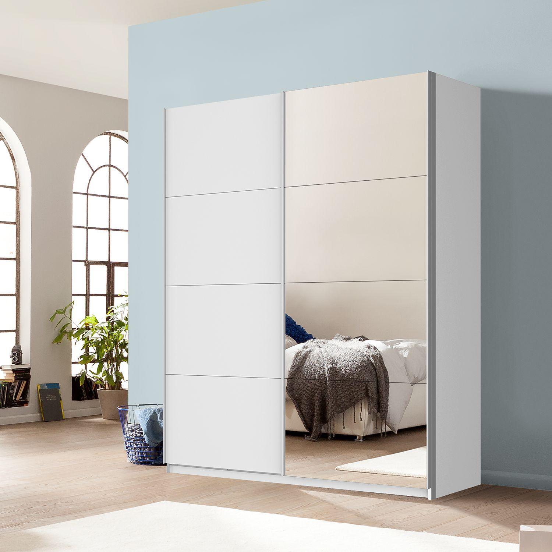 Schwebetuerenschrank Quadra Mit Spiegel Schwebeturenschrank Schrank Mit Spiegel Kleines Schlafzimmer Einrichten