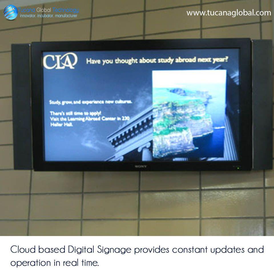 Cloud based DigitalSignage provides constant updates