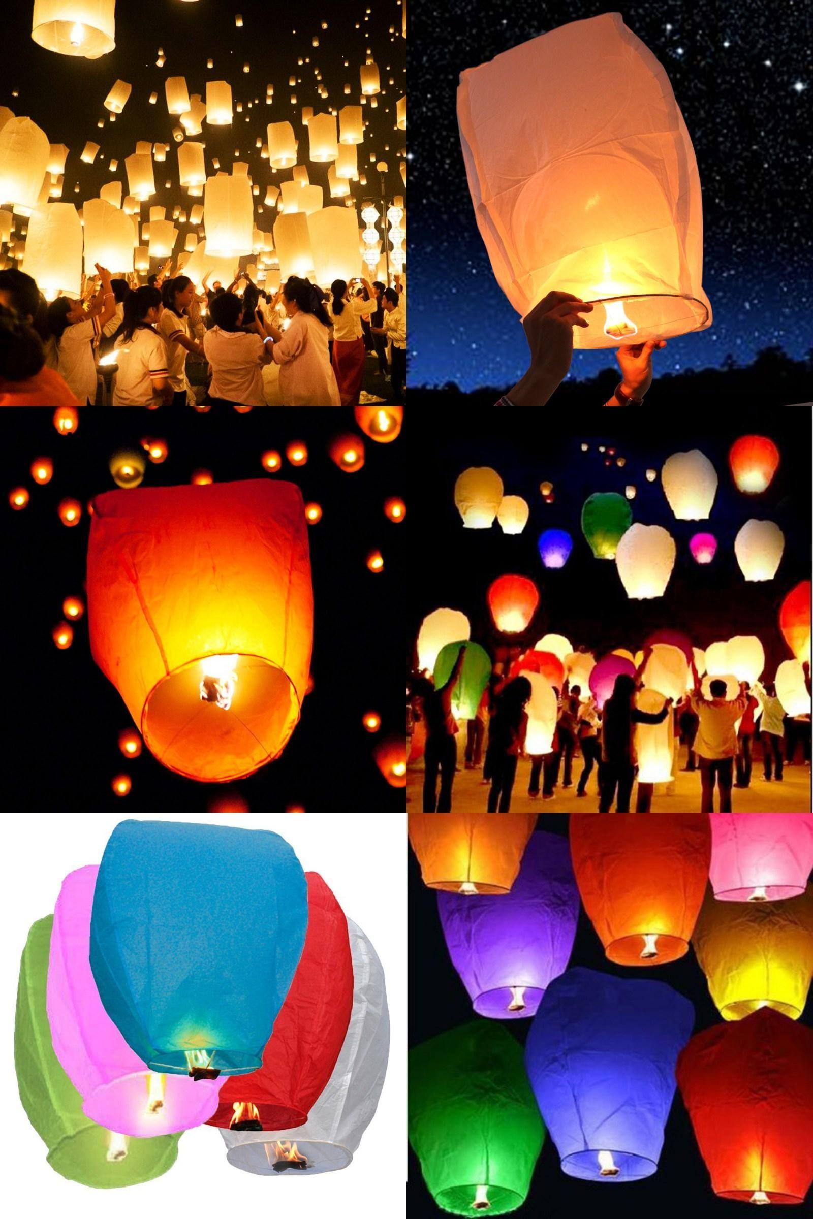 10pcs Flying Wishing Lamp Chinese Lantern Sky Lanterns Air Kongming Lantern