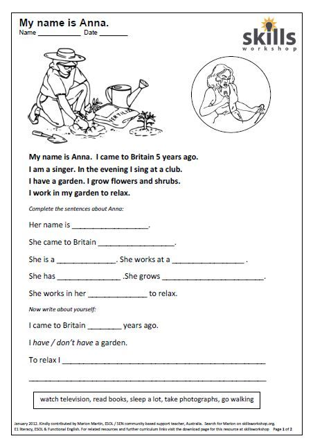 An Easy Reading For Beginners Followed By Complete The Sentence Reading  Worksheets, Reading Comprehension Worksheets, Reading Comprehension