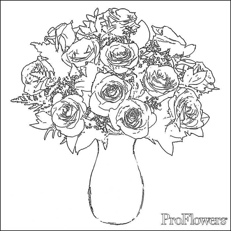 Beautiful Flower Coloring Pages Free  Posted by Damry on