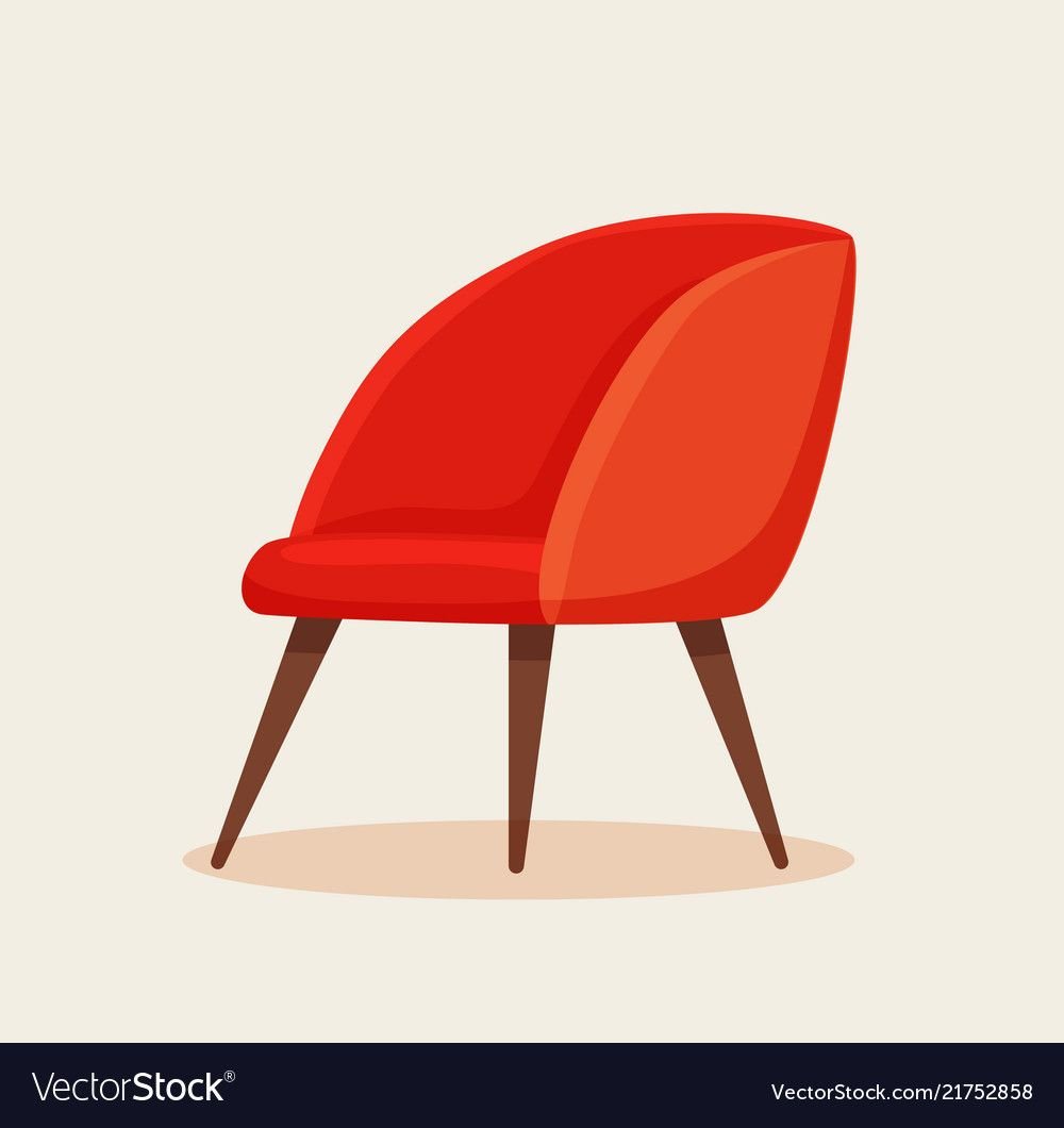 Office Chair Cartoon Vector Image On Vectorstock Chair Furniture Design Modern Cartoons Vector