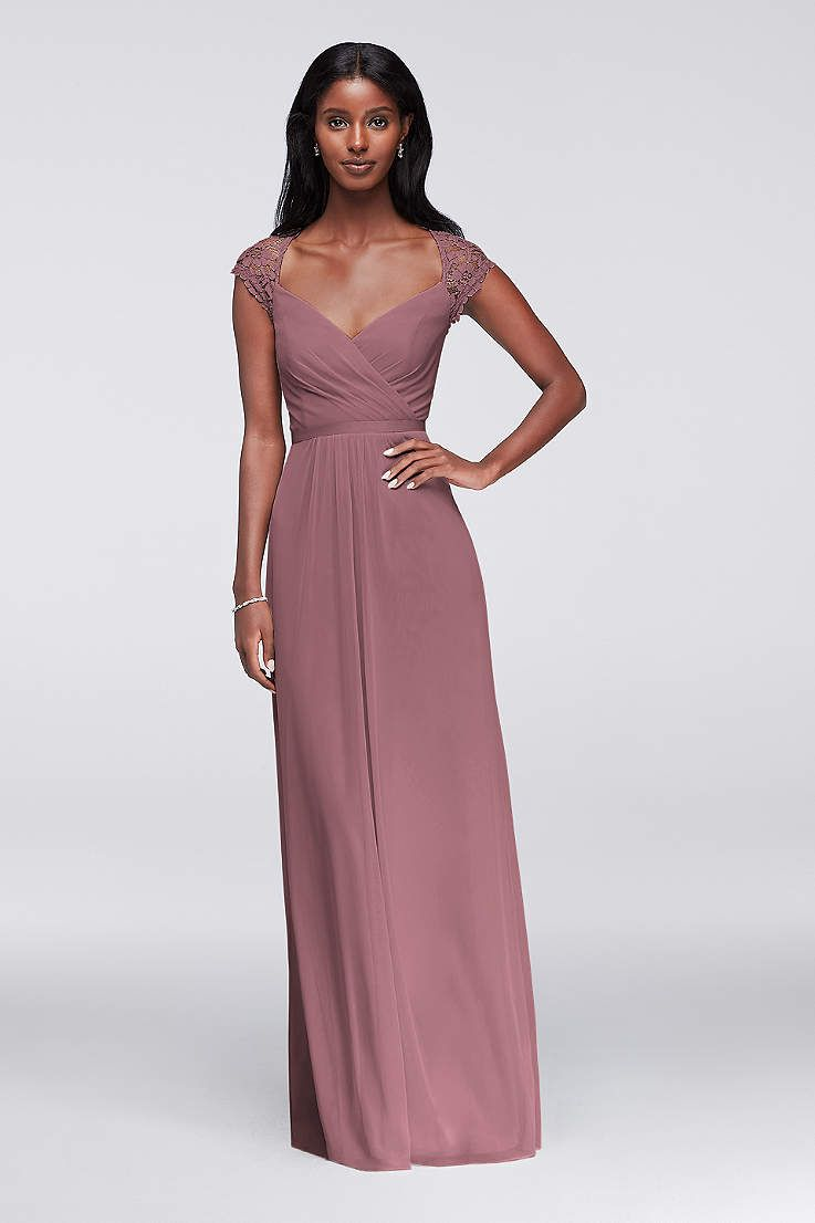 Soft u flowy davidus bridal long bridesmaid dress wedding ideas