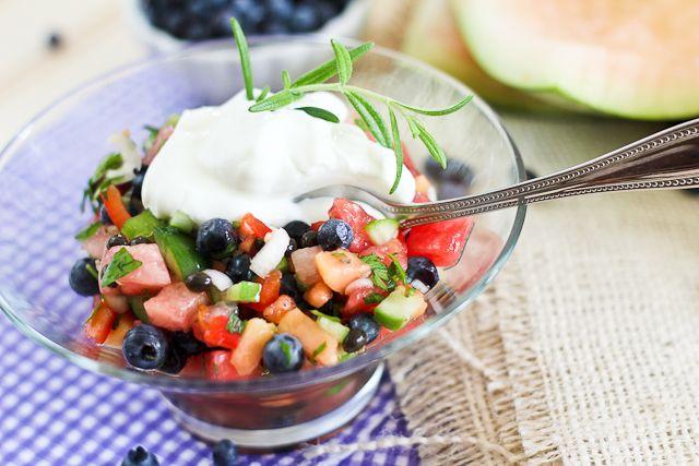 Watermelon Blueberry Salsa #recipe