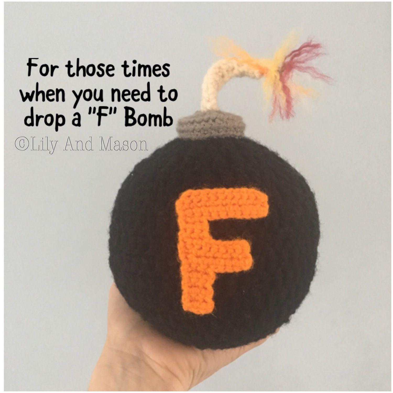 F Bomb, Maybe Swearing Will Help, Crochet Pattern, Adult Gifts ...