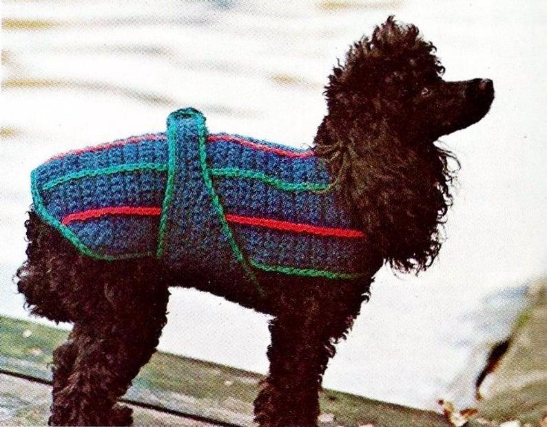 Crochet Dog Sweater Digital Download Vintage Crochet Pattern
