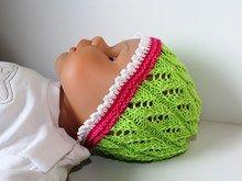 Strickanleitung Baby-Mütze, Babymütze Ajourmuster, ca. 4 - 10 Monate
