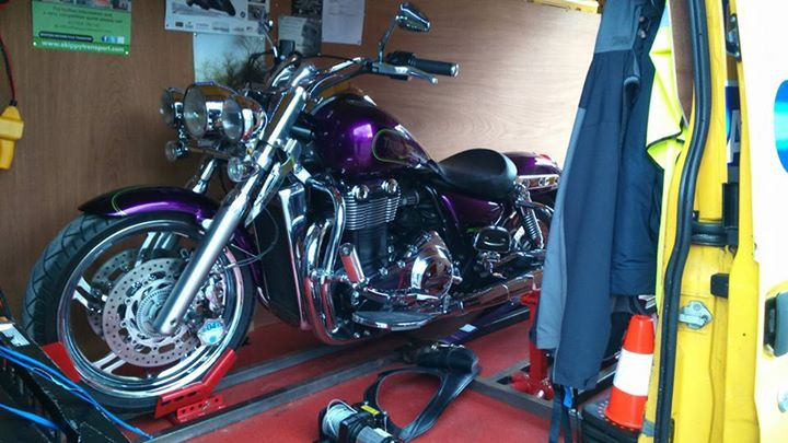 Triumph Thunderbird transported from Derbyshire to Dorset.