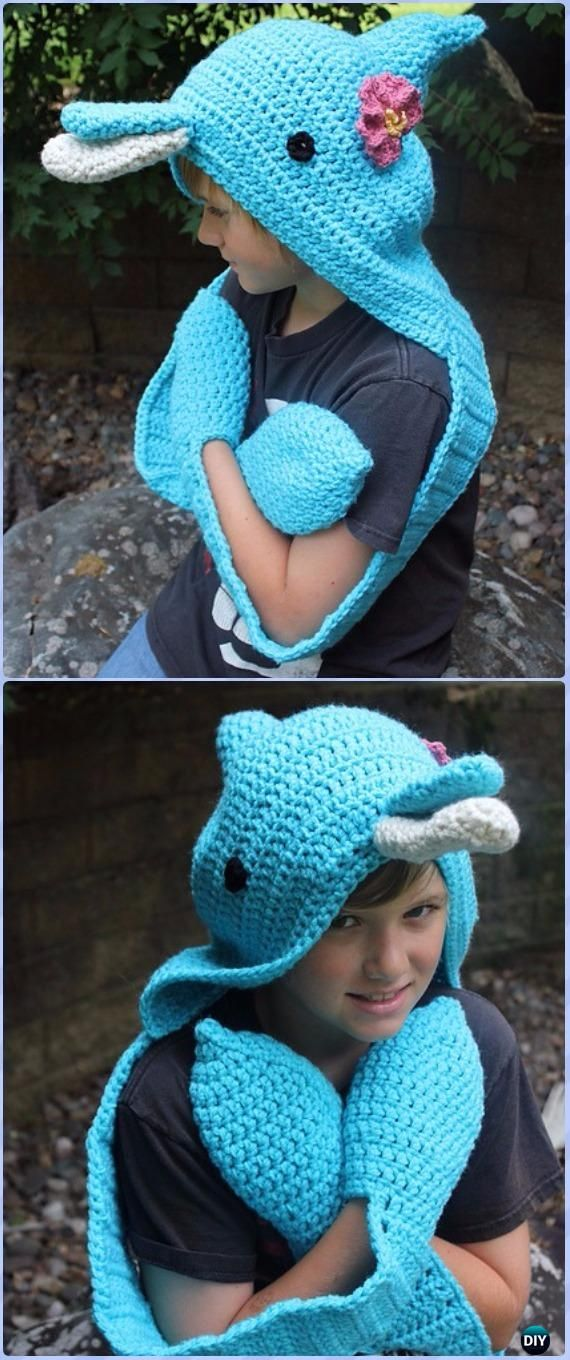 Crochet The Courtney Dolphin Scoodie Paid Pattern Crochet Hoodie