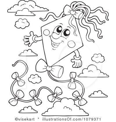 Royalty Free Rf Kite Clipart Illustration By Visekart Stock Sample 1079371 Goruntuler Ile Cizim