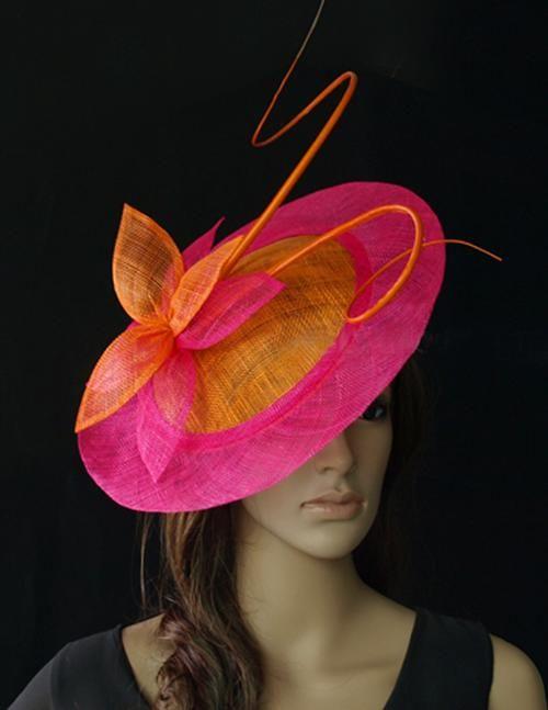 Orange Cerise Fascinator High Quality Wedding Hats