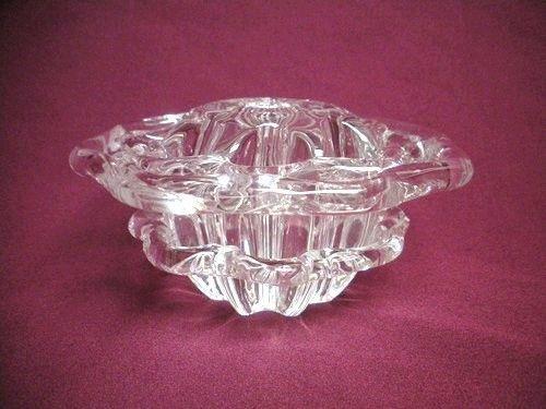 Large Vintage Steuben Crystal Art Glass Flower Frog Bowl Vase