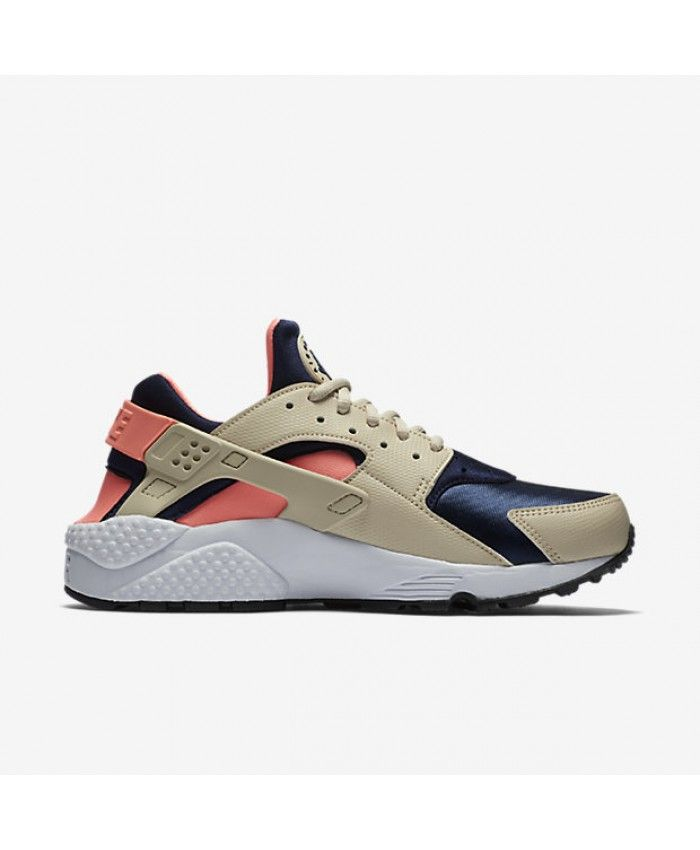 newest d7438 26e83 Nike Air Huarache Oatmeal/Lava Glow/Black/Binary Blue Women's Shoes &  Trainers