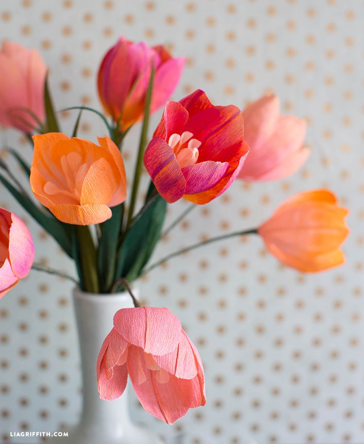Craft Pastel Painted Crepe Paper Tulips For Your Home Projects To