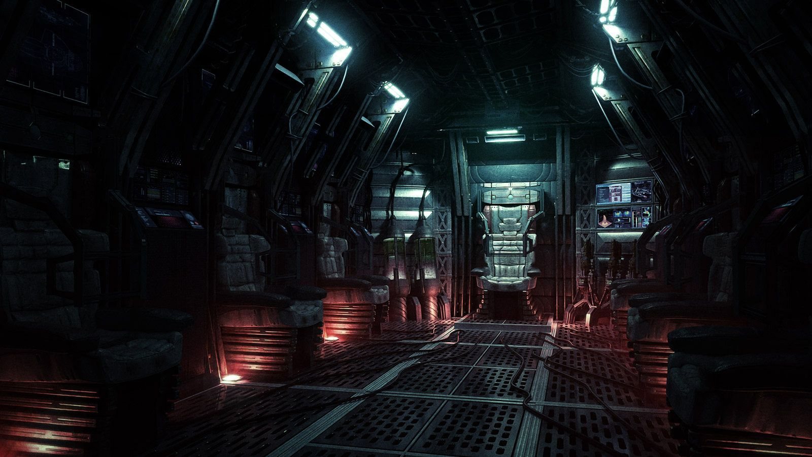Spaceship Cabine By Radoxist On Deviantart Space Station Outer Space Wallpaper Sci Fi Environment