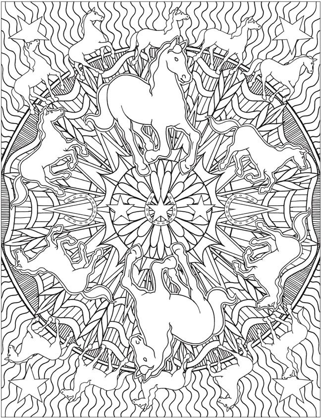 Coloriage Anti Stress Kaleidoscope.Animal Kaleidoscope Designs Coloring Book Dover Publications