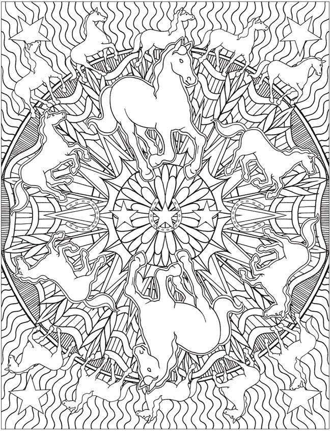 Animal Kaleidoscope Designs Coloring Book Dover Publications Designs Coloring Books Horse Coloring Pages Dover Coloring Pages