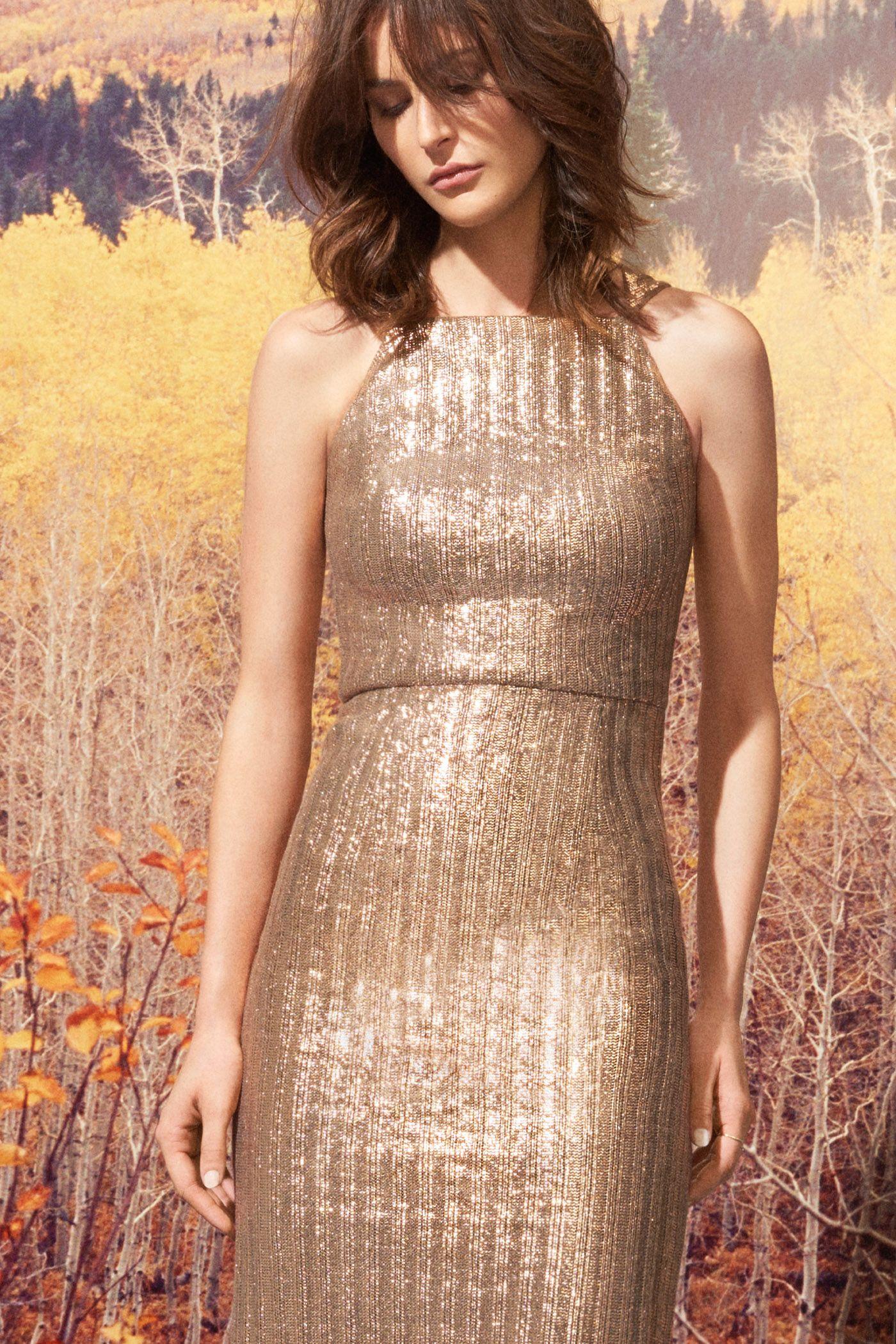 Silver Knit Dress