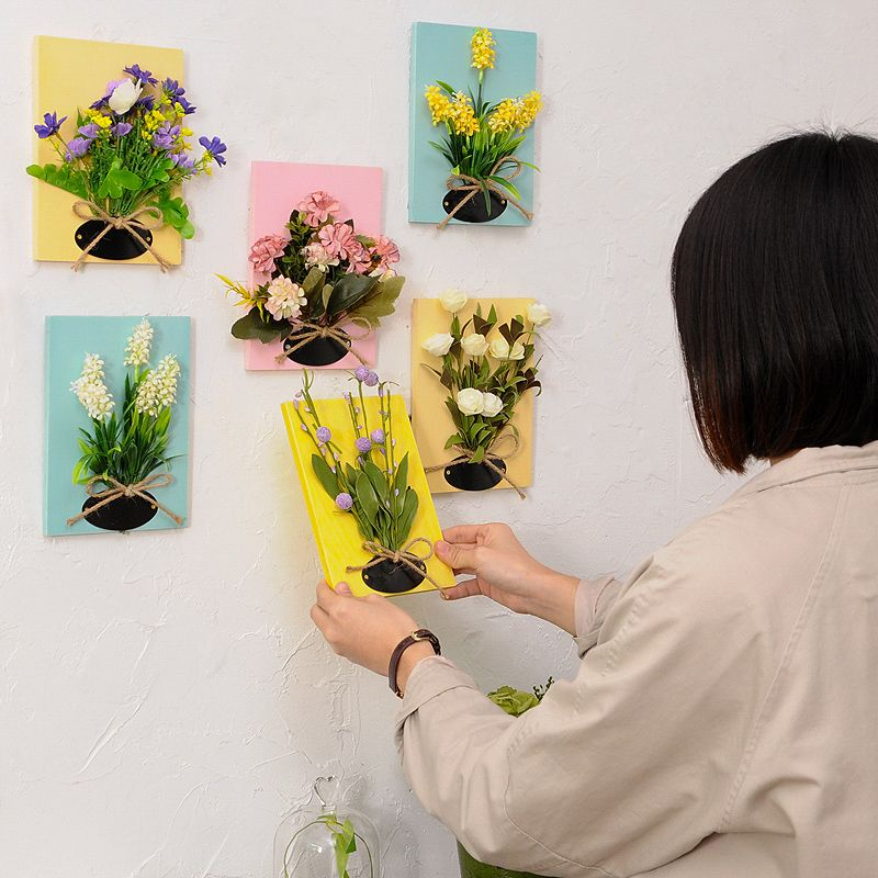 Hanging Fake Flower Wall yellow pink coral white Etsy in